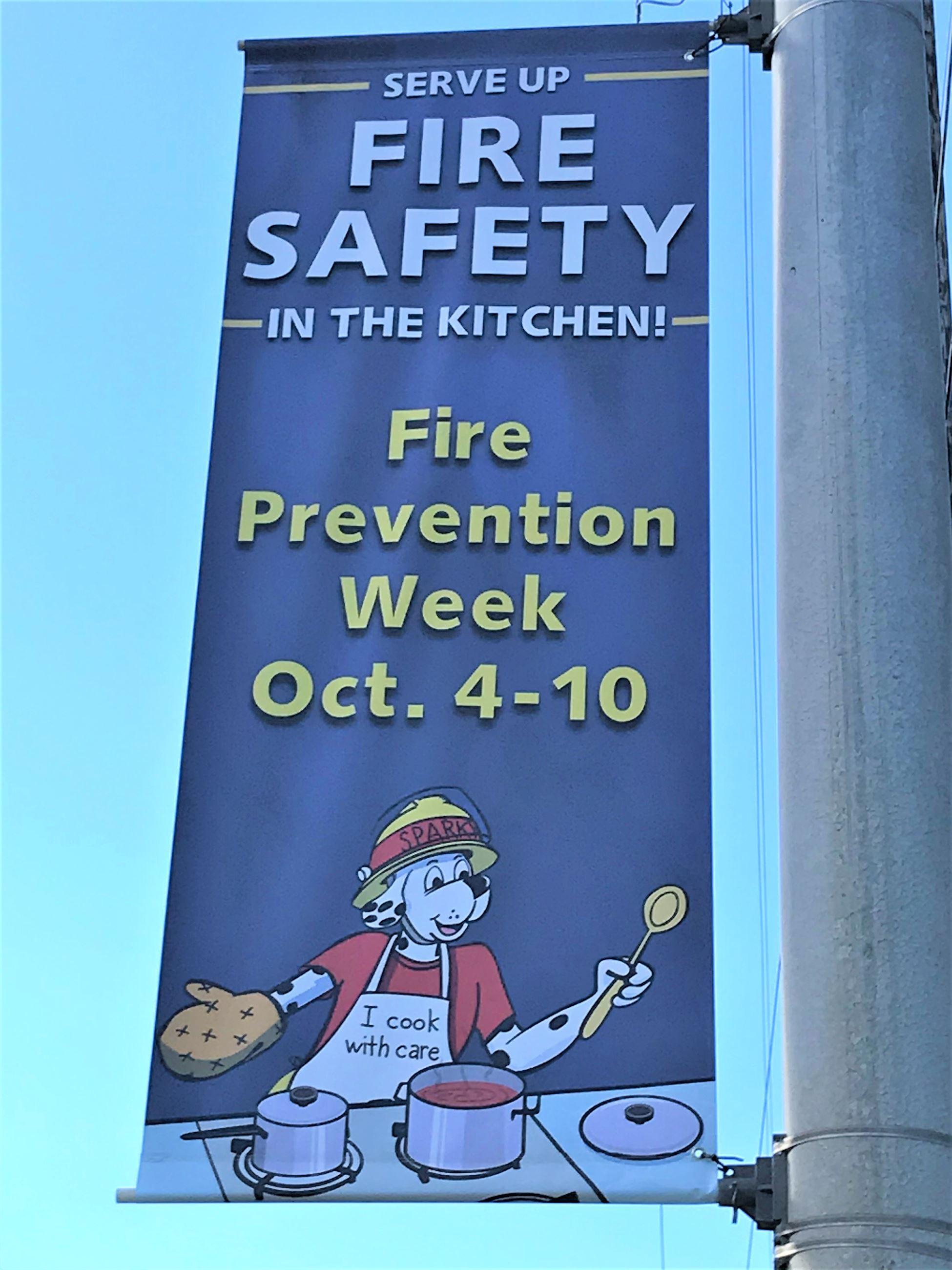 Fire prevention week banner 2020
