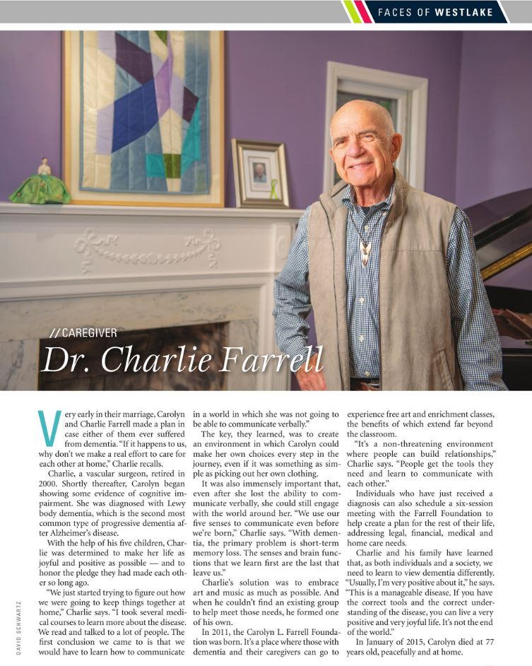 Faces of Westlake 2020 Dr. Charlie Farrell