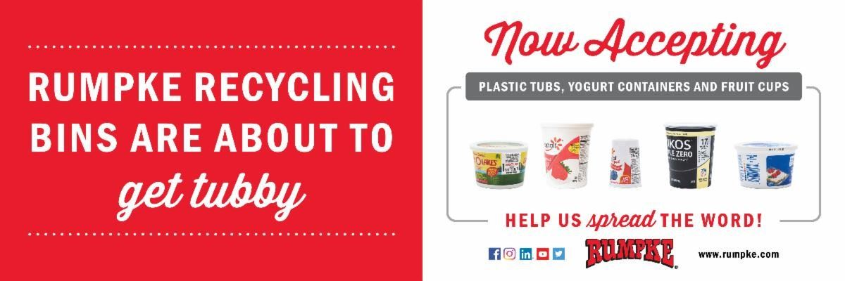 Rumpke accepting tubs for recycling