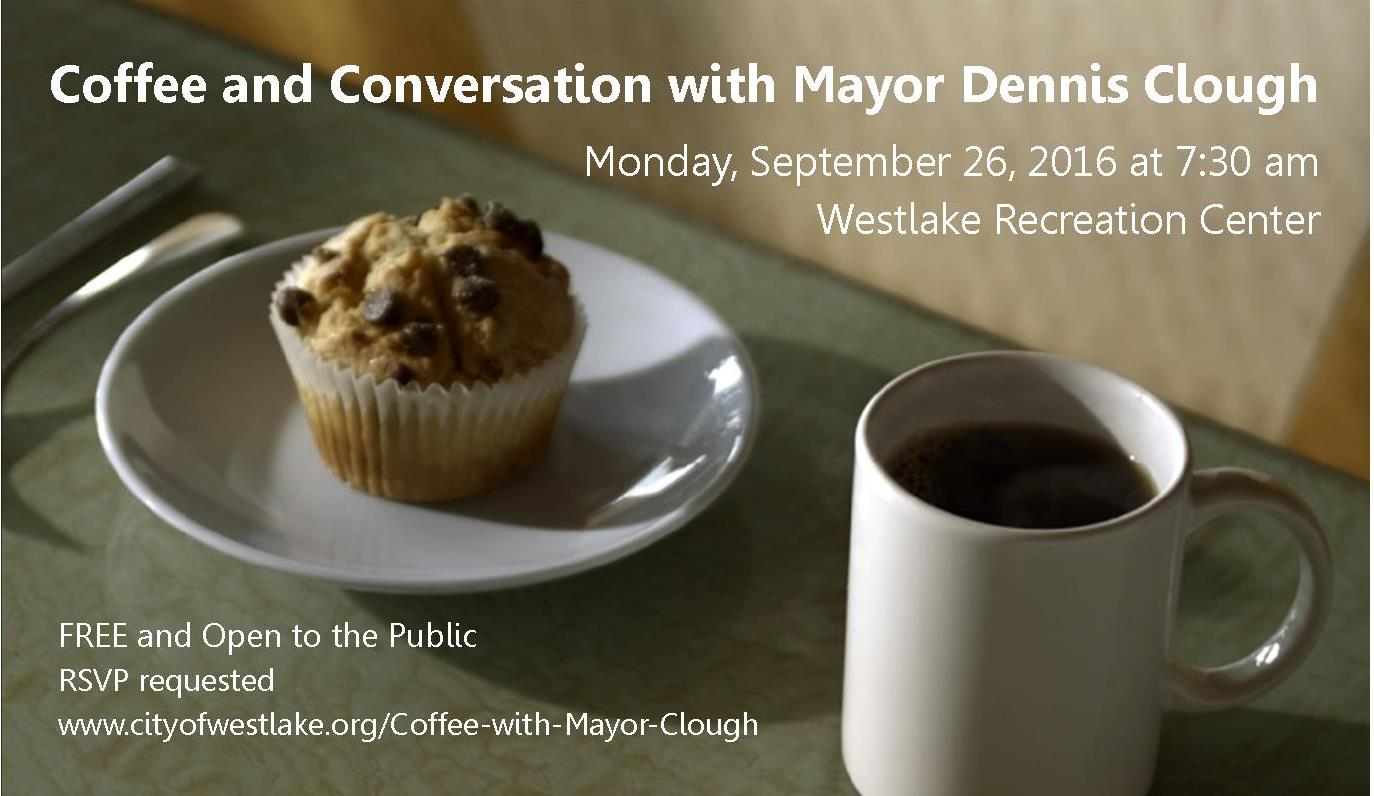 Coffee and Conversation with Mayor Clough on Sept 26 2016