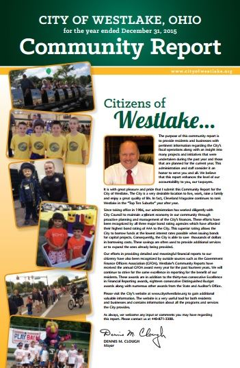 City of Westlake Community Report published 2016