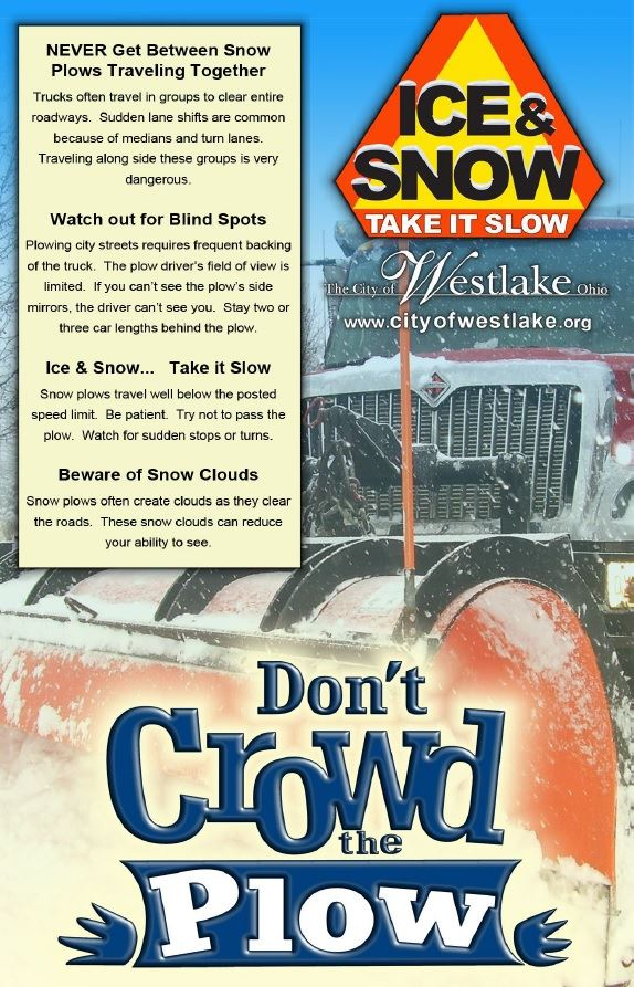 Dont crowd the plow safety tips