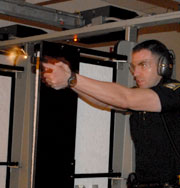 Sgt. Mittelstaedt at the Practice Range