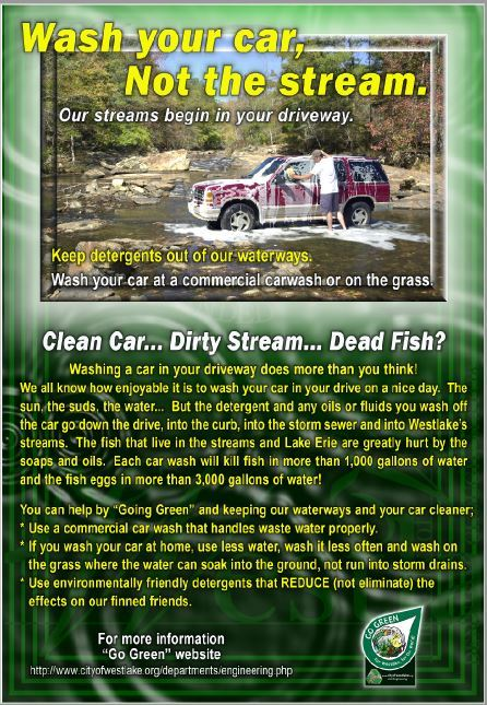 Wash your car Not the stream poster