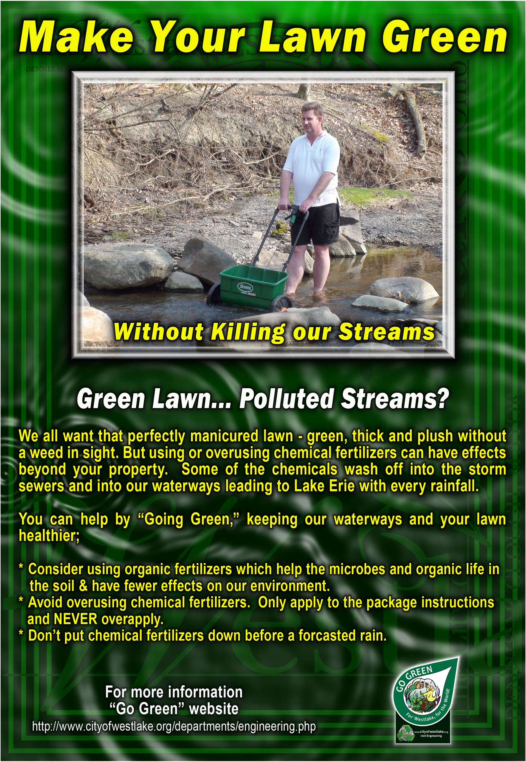 Make your lawn greeen poster