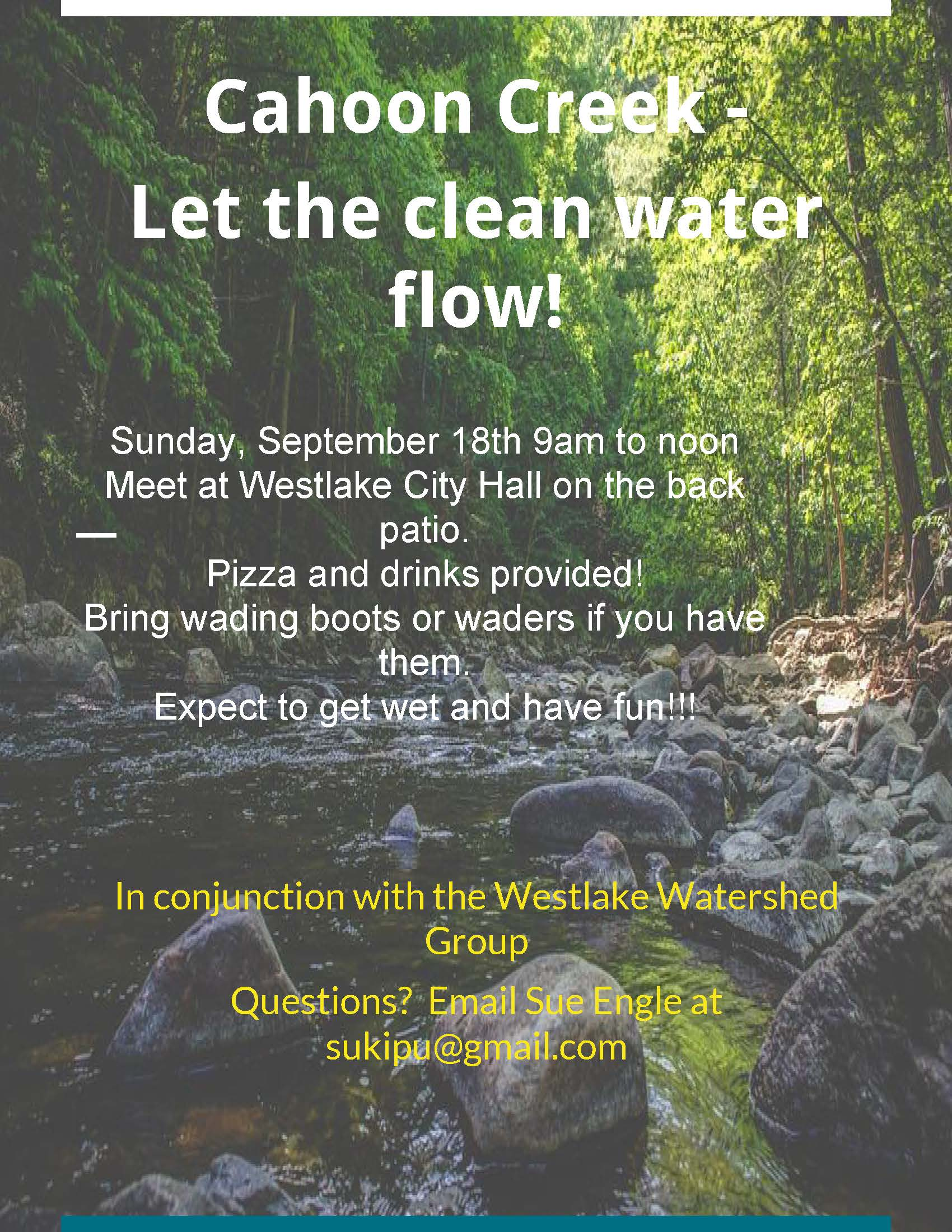 Cahoon Creek Cleanup flyer Sept 2016