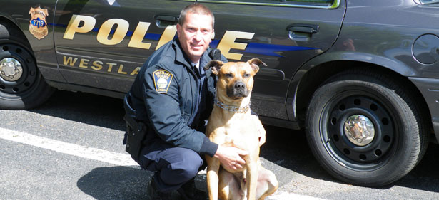 Officer Dennis Funari with K-9 Chico