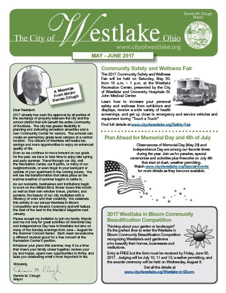 Mayors Newsletter Cover May-June 2017