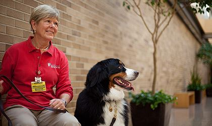 UH Pet Pals therapy dog and handler