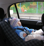Child Buckled in Child Seat