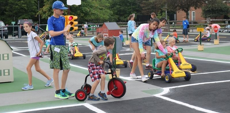 Safety Town street crossing practice