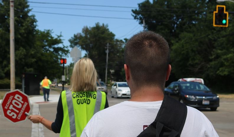 School crossing guard with ped