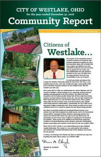 City of Westlake Community Report published 2017