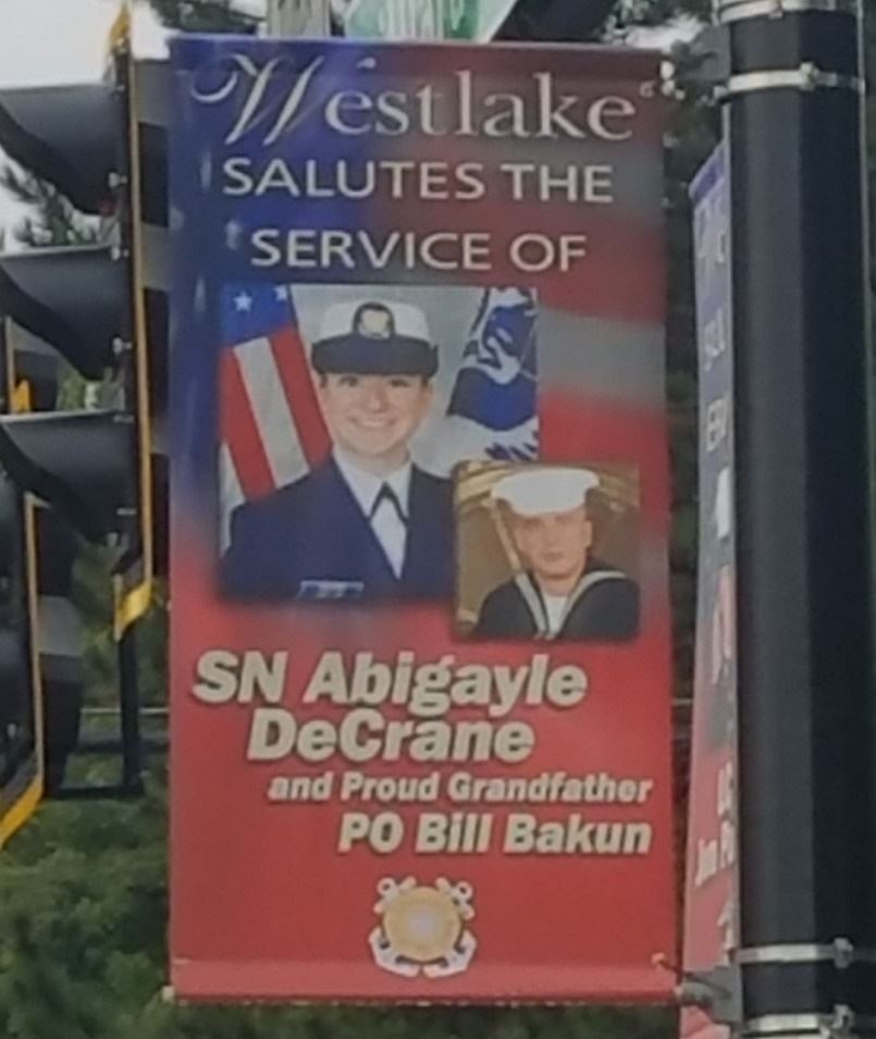 SN Abigayle Decrane and PO Bill Bakum, Navy