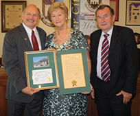 Mayor Dennis Clough, Deputy Mayor of Tralee Mairead Fernane and former Mayor Ted Fitzgerald