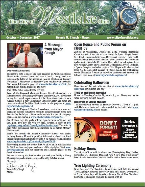Mayors Newsletter Cover Oct-Dec 2017 full