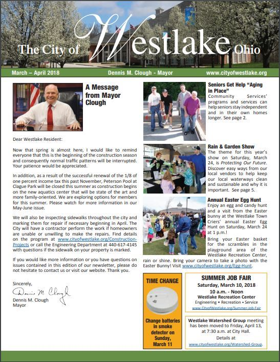 MayorsNewsletter Cover MarchApril 2018 full