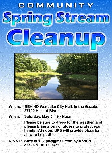 Creek Cleanup Poster