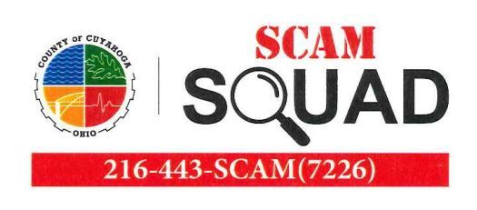 Scam Squad header