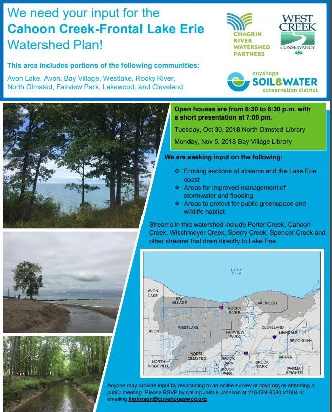 Cahoon-Porter Creeks Watershed Plan flyer