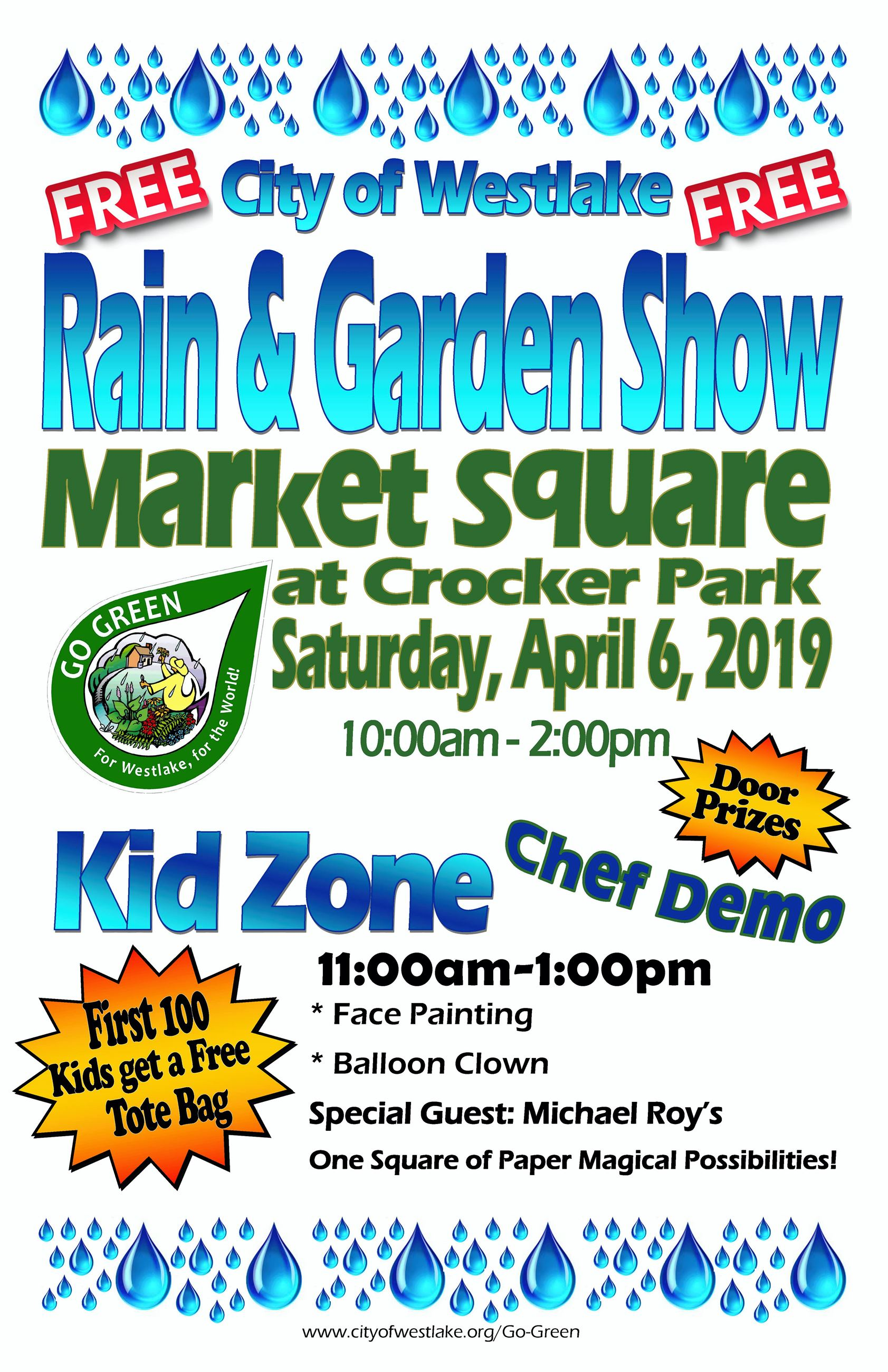 Save the Date of Saturday, April 6, 2019 for the Rain and Garden Show