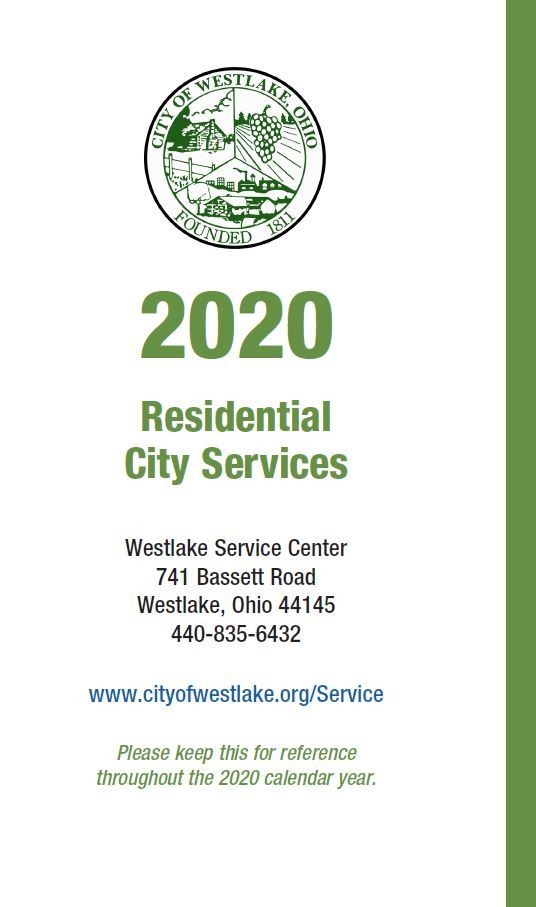 Current Residential City Services Brochure Cover