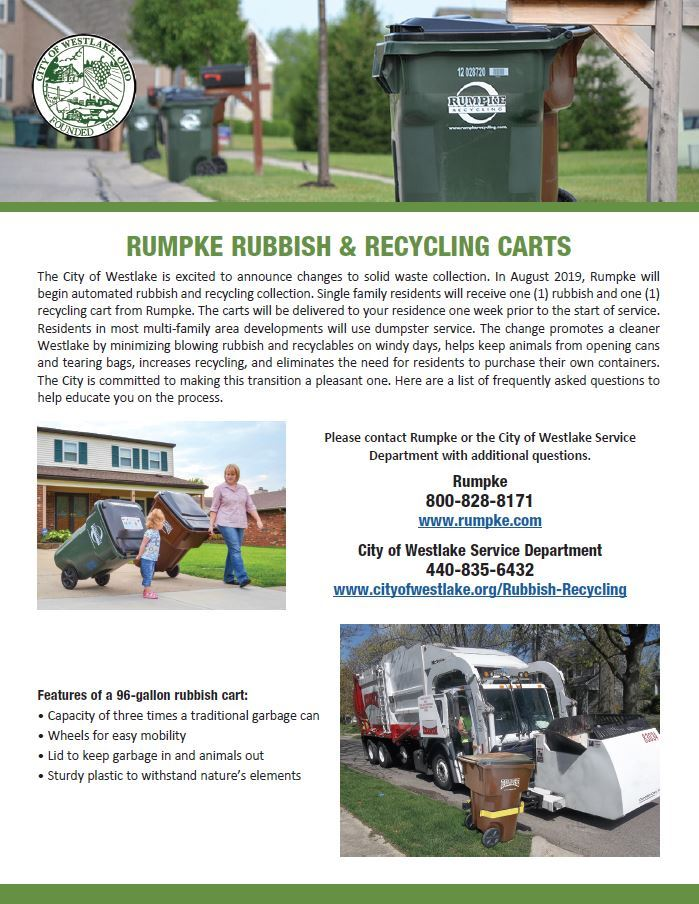 Rumpke Rubbish & Recycling Carts FAQ Sheet