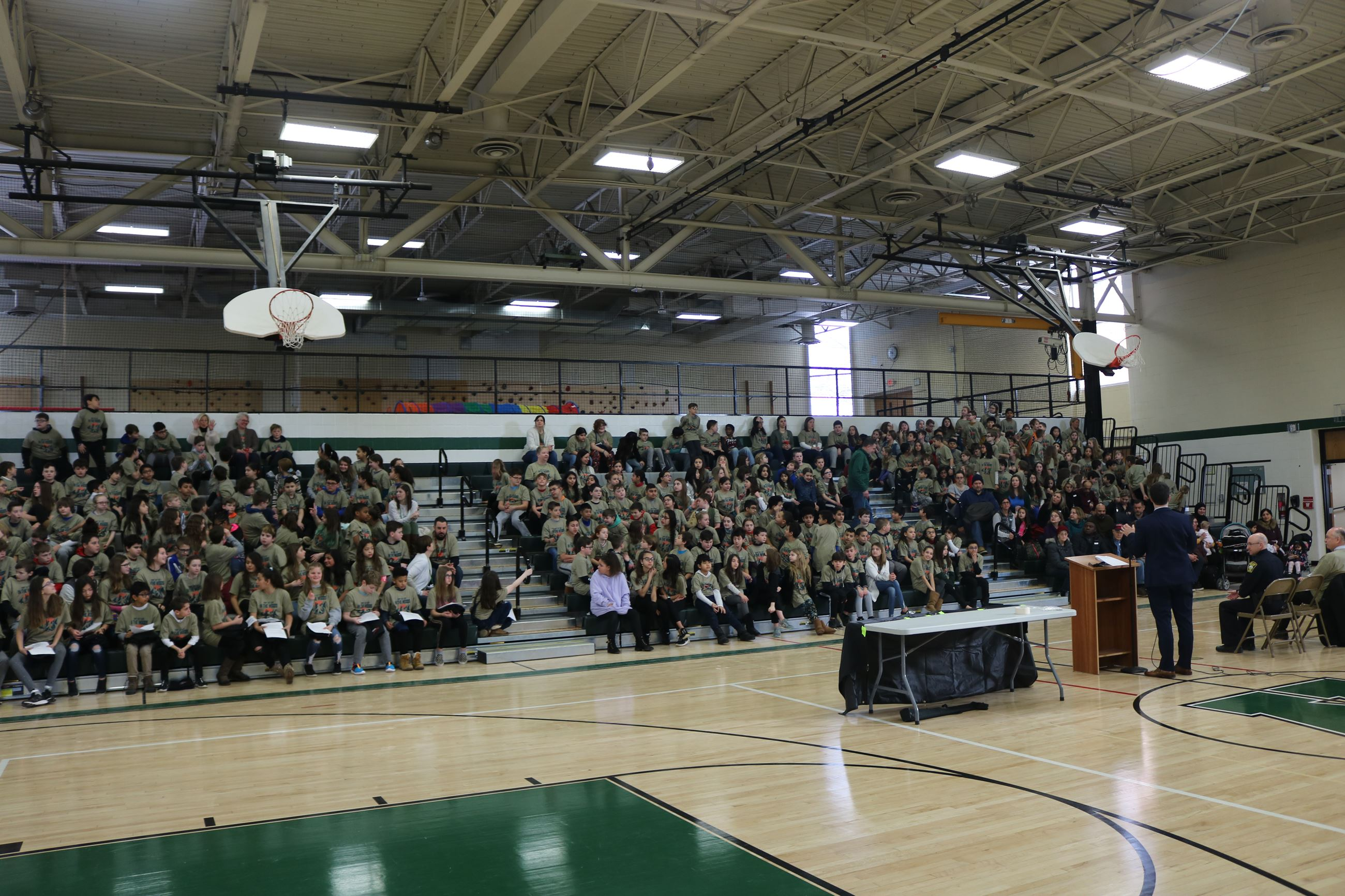 Crowd of students at D.A.R.E. graduation ceremony.
