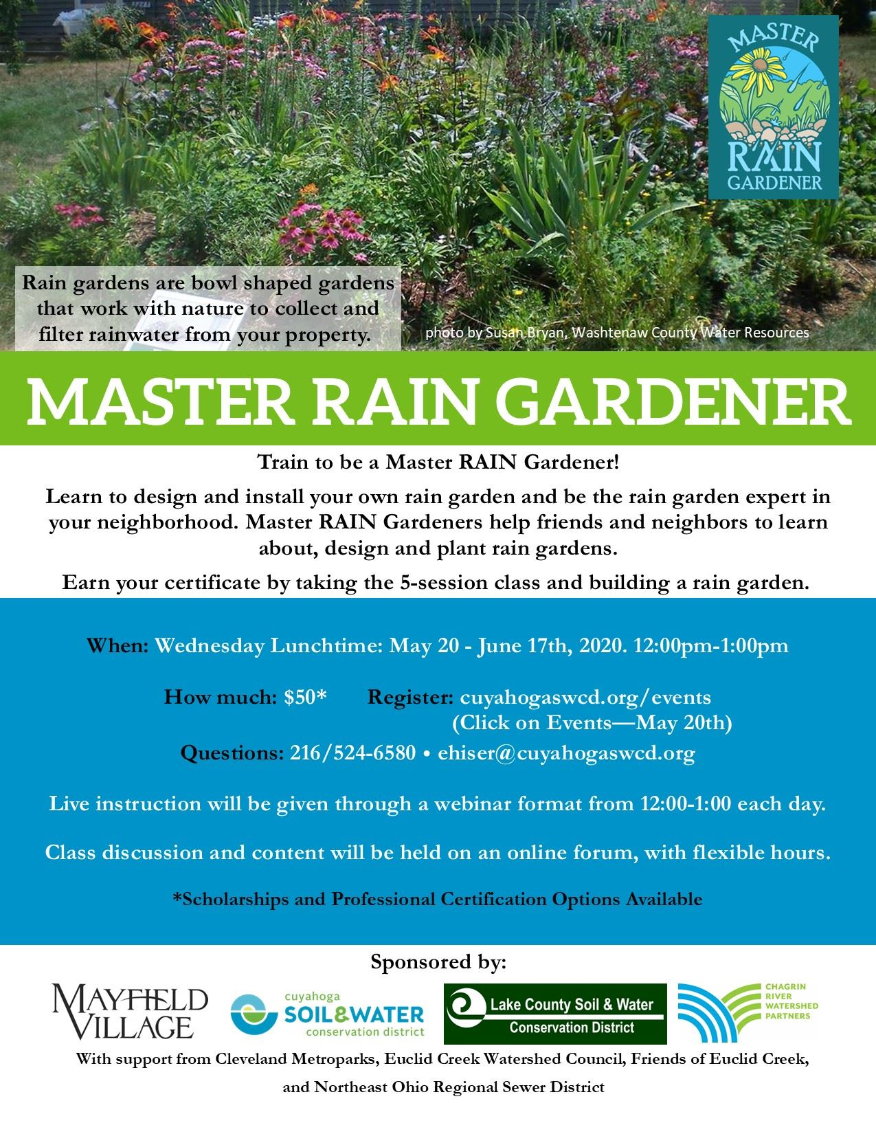 Master Rain Gardener Program Opens in new window