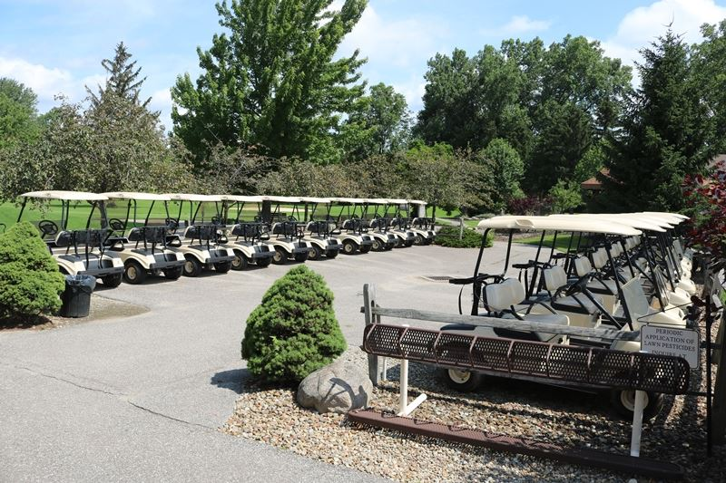 Meadowood's Golf Carts are waiting for you