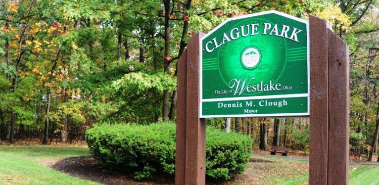 Clague Park Sign